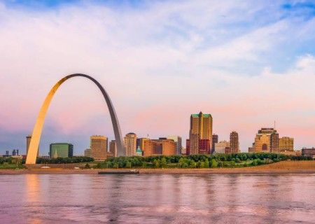 Home Page St. Louis Skyline Including The Gateway Arch