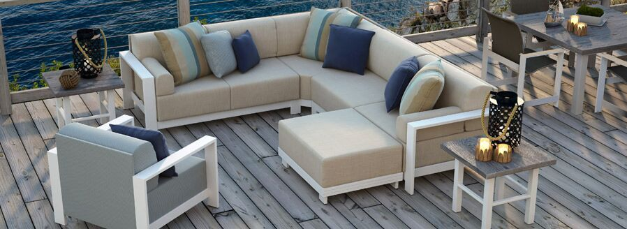 Outdoor Furniture by water