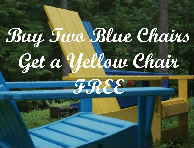 Colored Chairs Offer on Specials Page