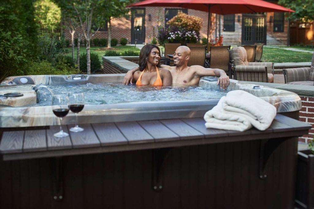 Relaxed Couple in an Aspen Hot tub