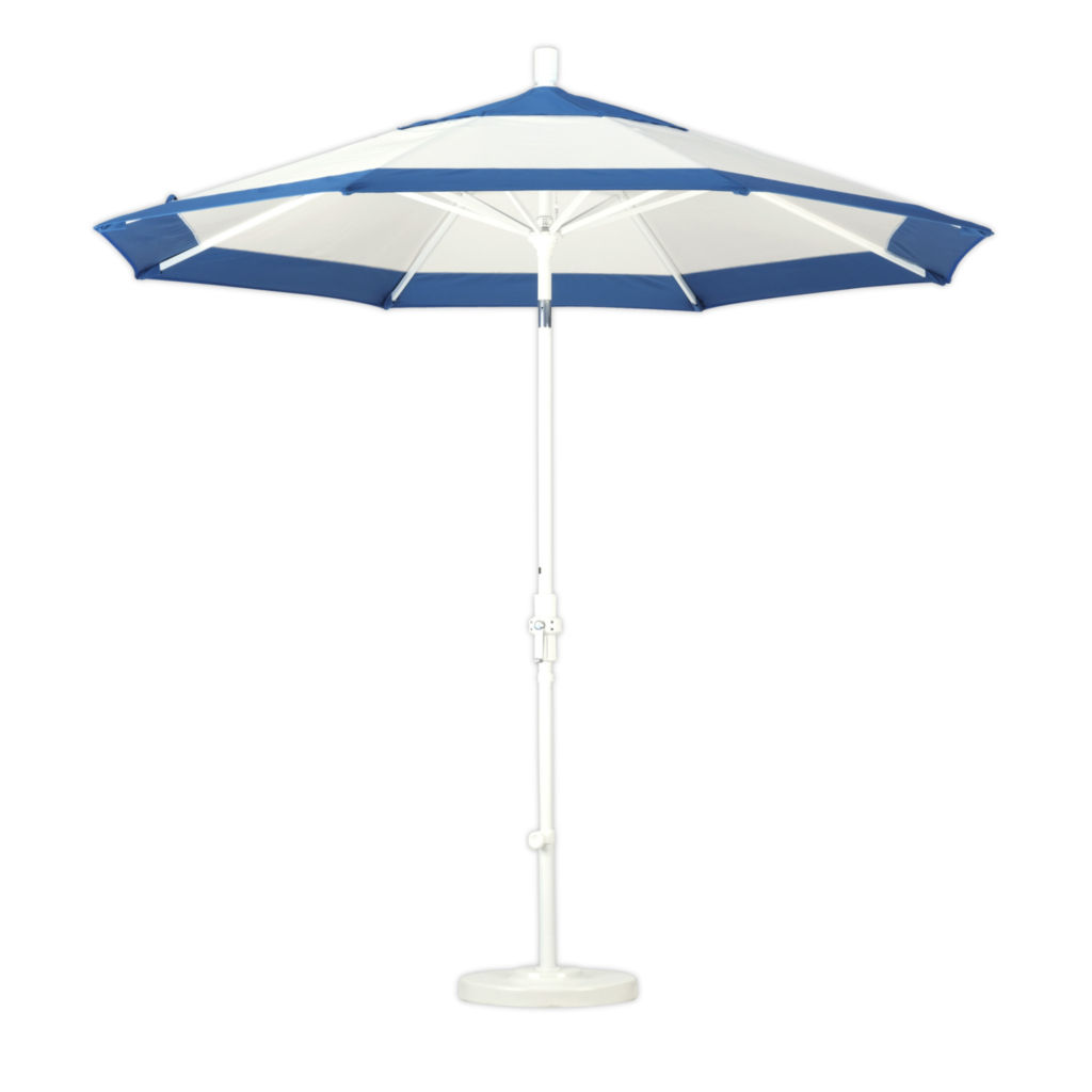 Blue and White Umbrella from California Umbrellas Page