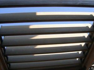 Pergola Roof Louver Open