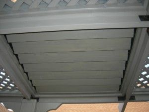 Pergola Roof Louver Closed