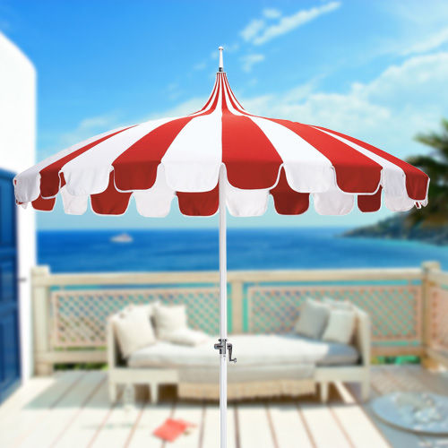 Red and White Umbrella on California Umbrellas Page