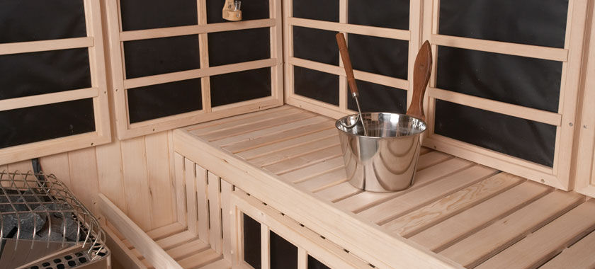 Finnleo Sauna Image with Bucket