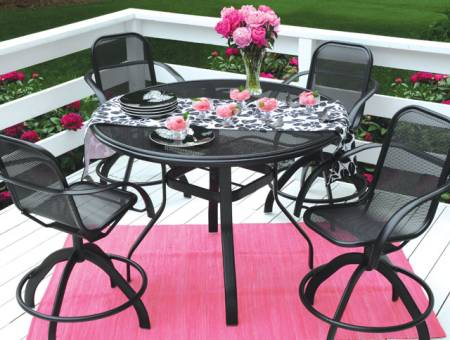 Black and Pink Patio hc12
