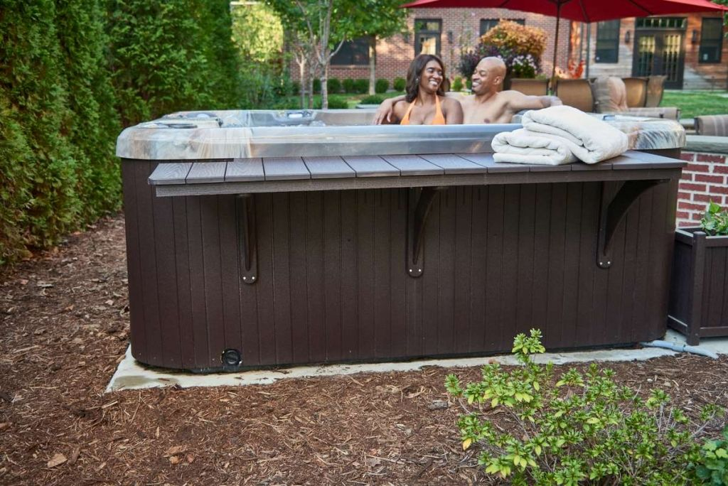 Couple in Hot Tub from Customization Page