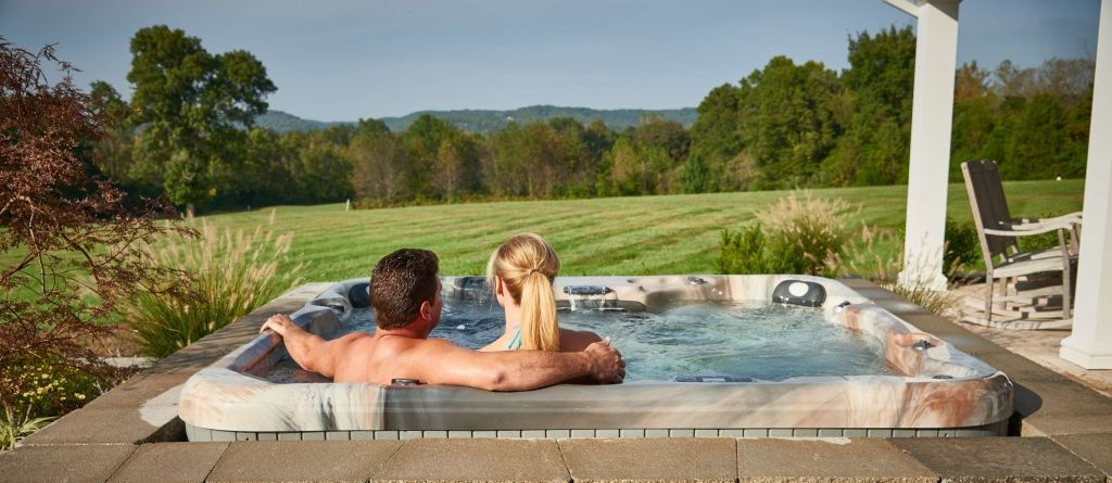 Photo taken Behind Couple in Hot Tub