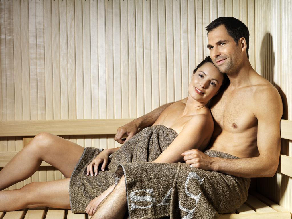 Couple In Finnleo Sauna