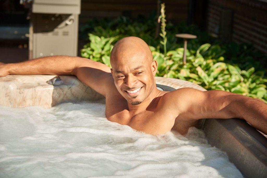 Spa Accessories & Hot Tub Surrounds Man Enjoying Hot Tub