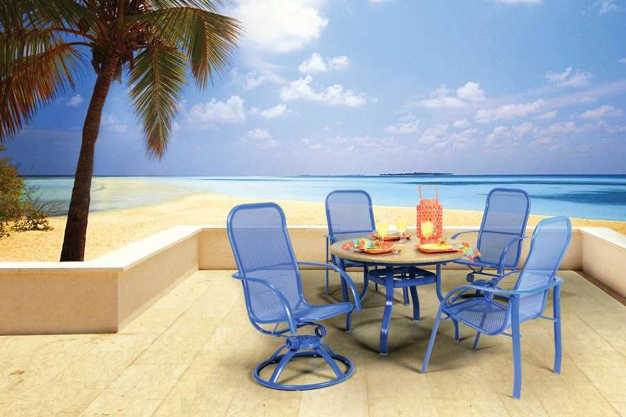 Outdoor Furniture Blue Florida Mesh