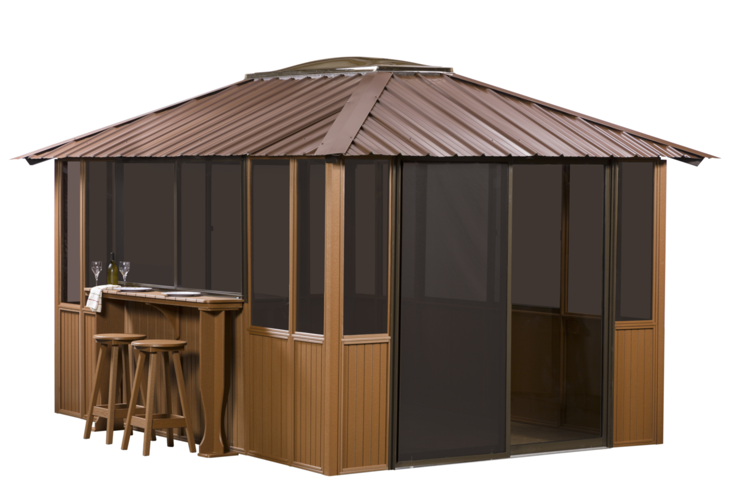 Brown Gazebo Transparent