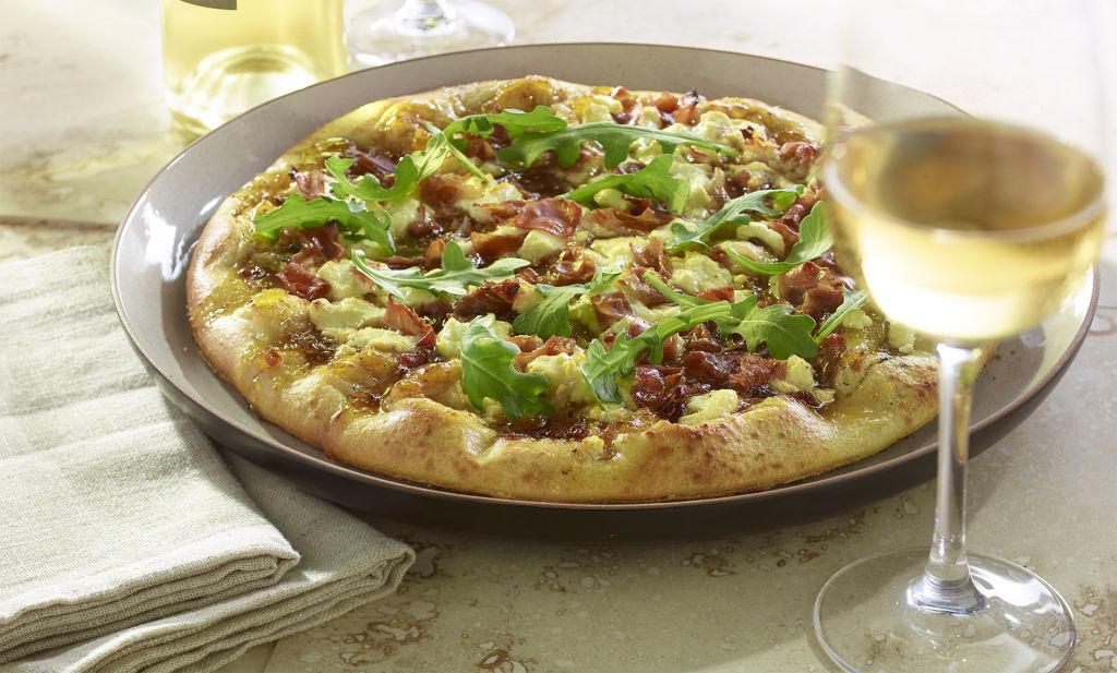 Prosciutto Fig Goat Cheese Pizza