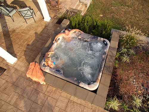 Hot Tub Aerial View