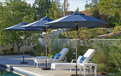 California Umbrellas on Outdoor Living Page