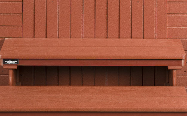 Red Steps on Outdoor Kitchens Page