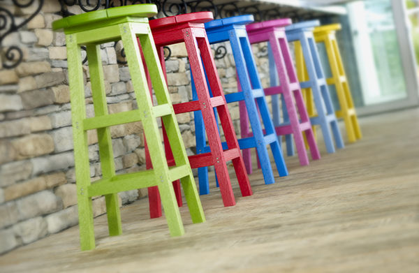 C.R. Plastic Products Colored Stools