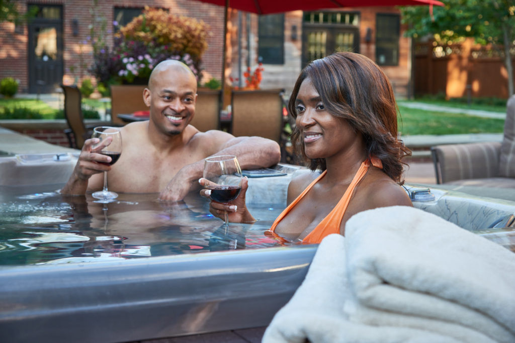 Happy Couple on PDC Swim Spas Page