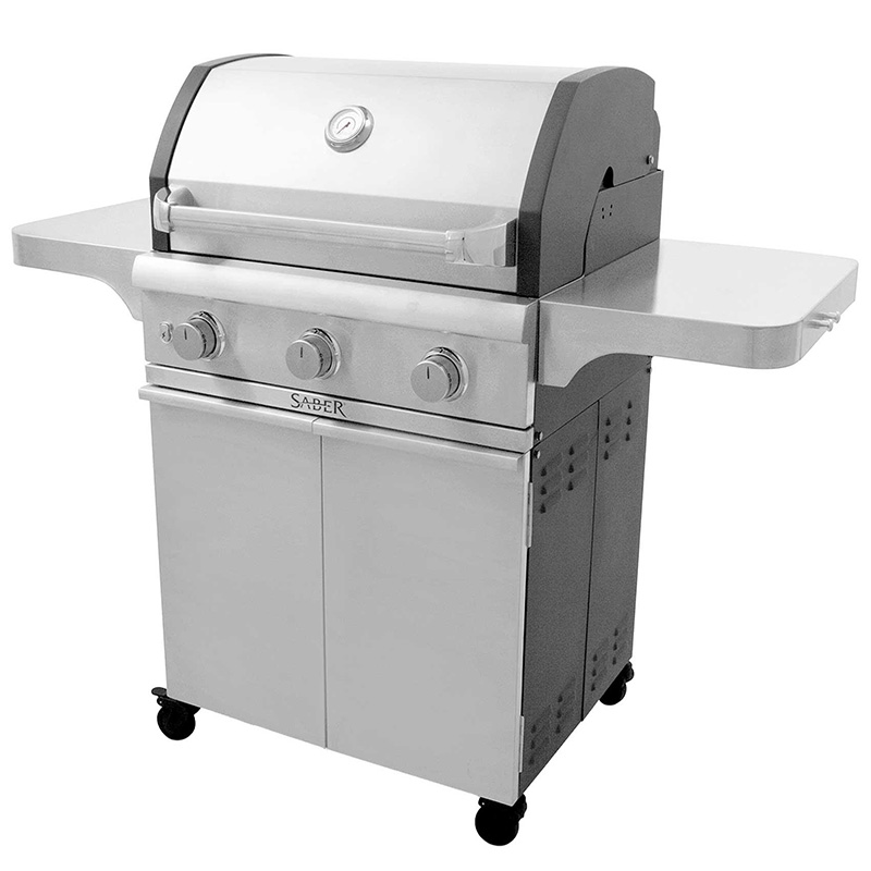 Large Silver Saber Grill 2
