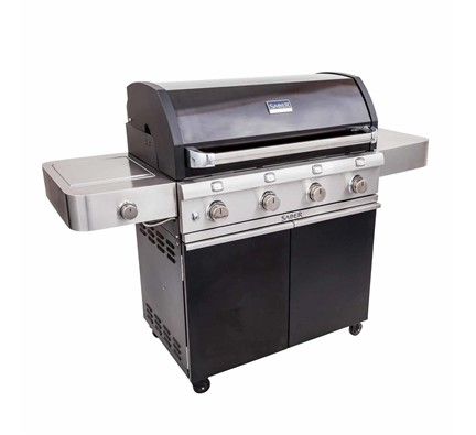 Saber Cast Black 670 Grill Closed