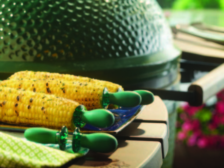 Big Green Egg With Corn On The Cob