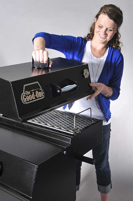 Woman with The Open Range Grill 2