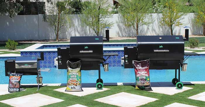 Lineup of 3 Green Mountain Grills