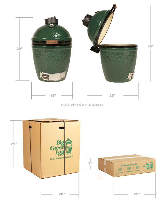 Big Green Egg Grill Packaging Size Medium