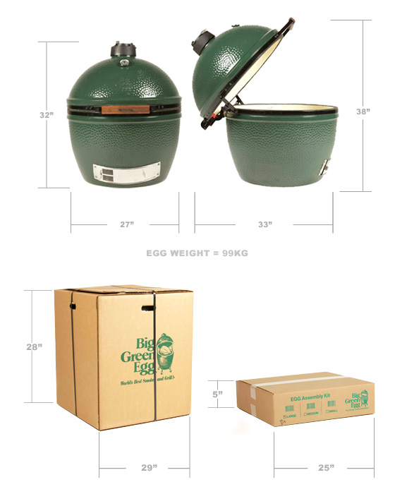 Big Green Egg Packaging XL5