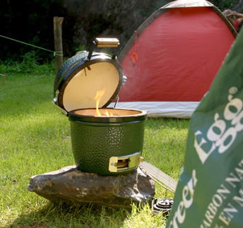 Big Green Egg Mini4 Camping and Grilling